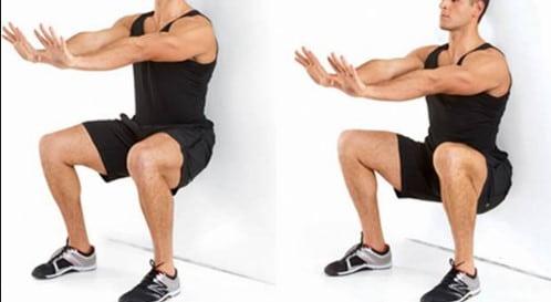 تمرین اسکات به کمک دیوار برای درمان پای پرانتزی