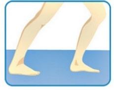 ماهیچه ی پشت ساق پای (توأم) خود را بکشید